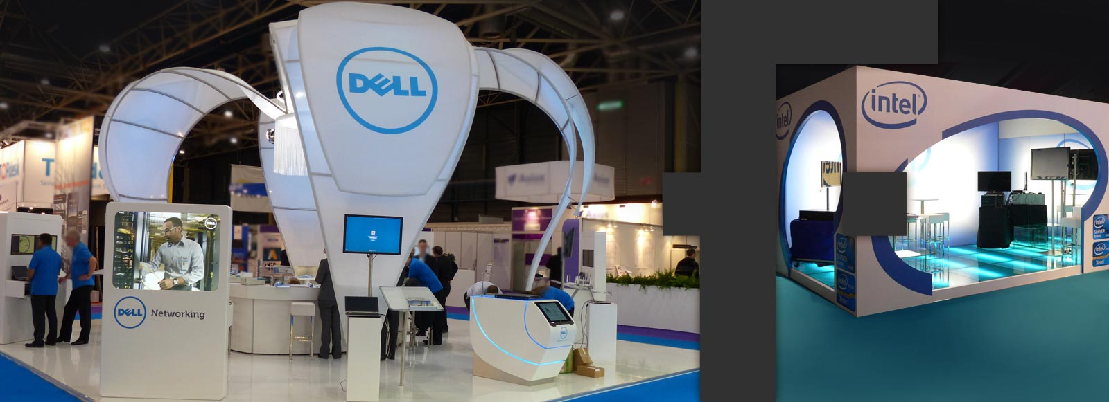 Messestand Dell und Intel
